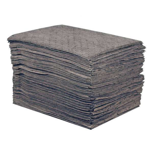 Sellars 25250 Gray Sorbent Universal Lightweight Poly Pad [15 X18] (100/Bag)