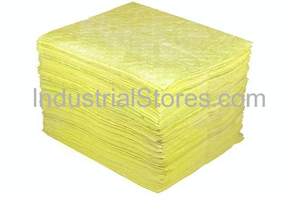 Sellars 50101 Yellow Sorbent Universal Poly Pads [15 X18] (100/Bag)