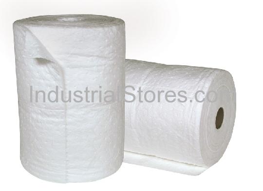Sellars 82006 White Sorbent OilOnly Poly Split Roll [19 X144] (2/Bag)