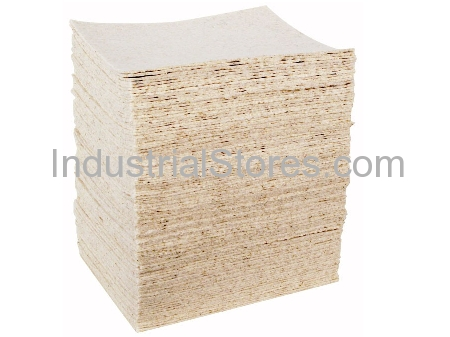 Sellars 82850 HeavyDuty White Sorbent Pad (Oil Only) (100/Case)