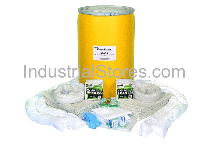 Sellars 99035 55Gallon Drum Oil Only Spill Kit