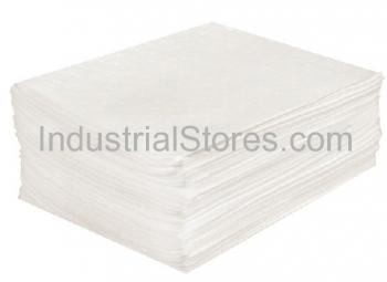 Sellars 82001 White Sorbent OilOnly Heavyweight Laminated Pads [16 X20] (100/Bag)