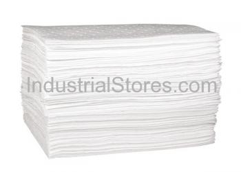 Sellars 82004 White Sorbent OilOnly Middleweight Poly Pads [15 X18] (100/Bag)