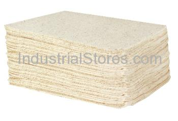 Sellars 83400 EconoDuty White Sorbent Pad (Oil Only) (100/Case)