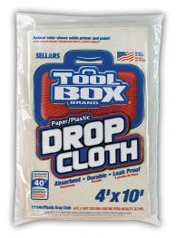 TOOLBOX 27410 Drop Cloths Paper/Plastic 4-ft x 10-ft (15 per case)